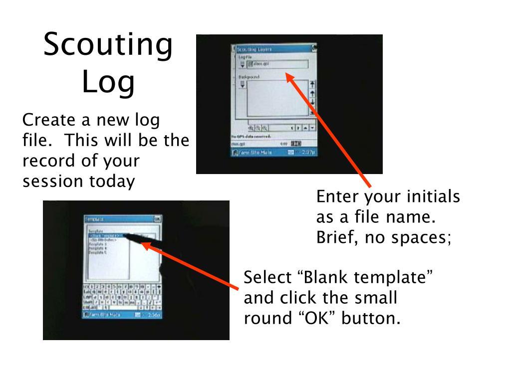 Scouting Log