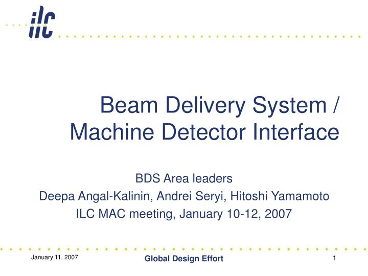 Beam delivery system machine detector interface l.jpg