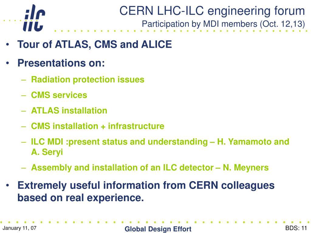 CERN LHC-ILC engineering forum