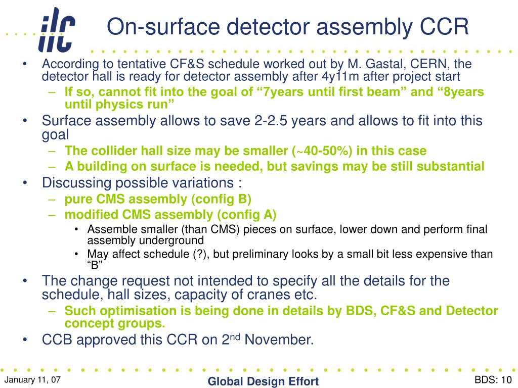 On-surface detector assembly CCR