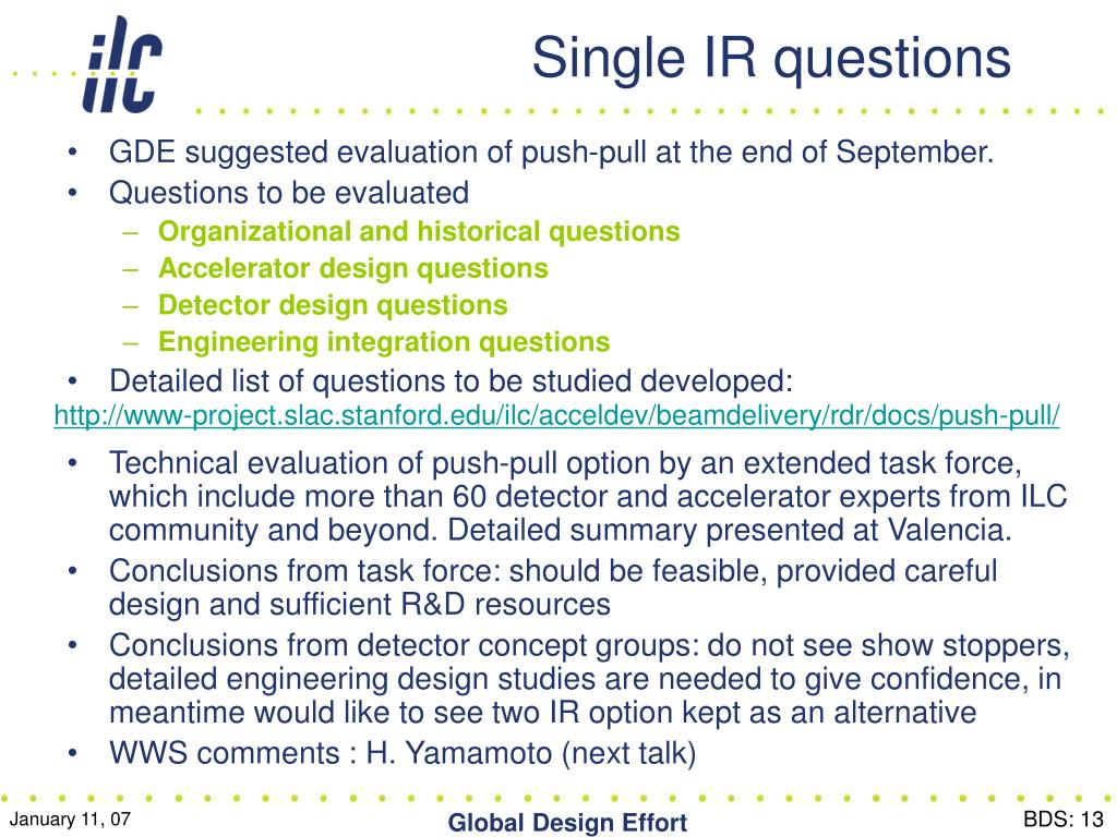 Single IR questions