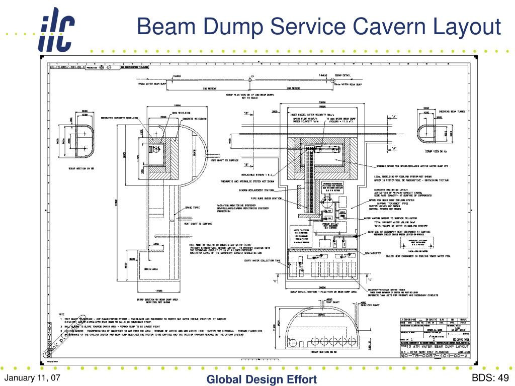 Beam Dump Service Cavern Layout
