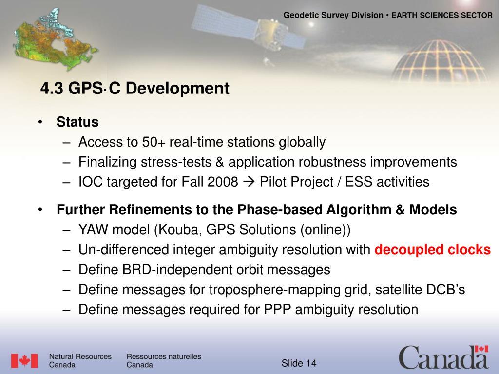 4.3 GPS·C Development