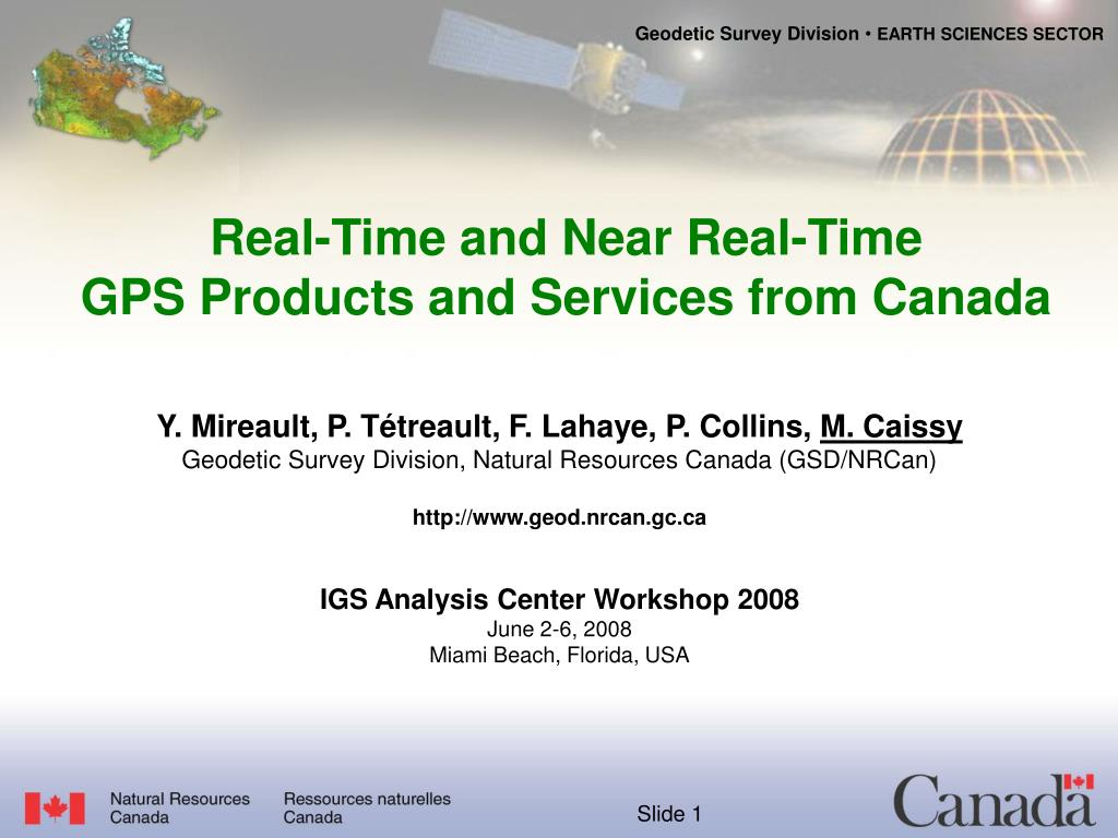 real time and near real time gps products and services from canada
