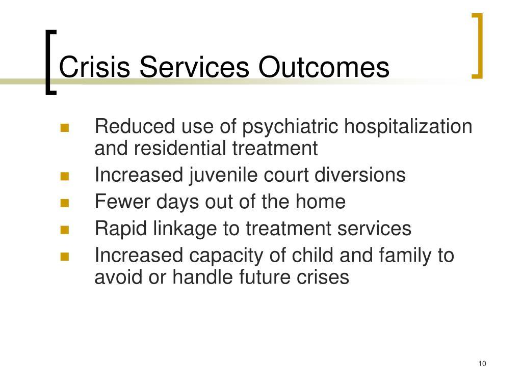 Crisis Services Outcomes