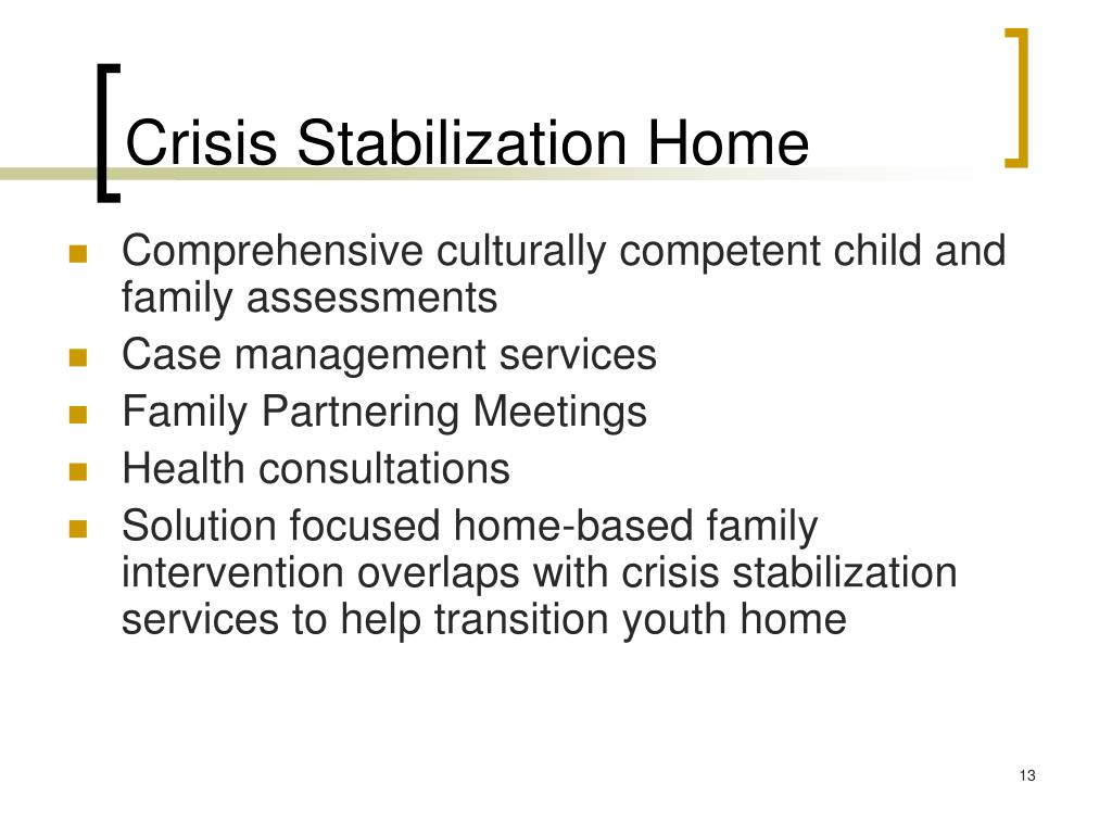 Crisis Stabilization Home