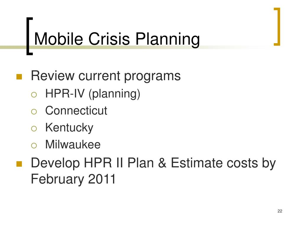 Mobile Crisis Planning