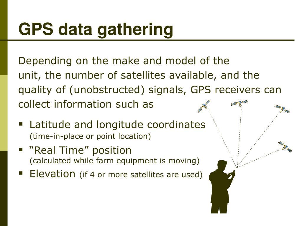 GPS data gathering
