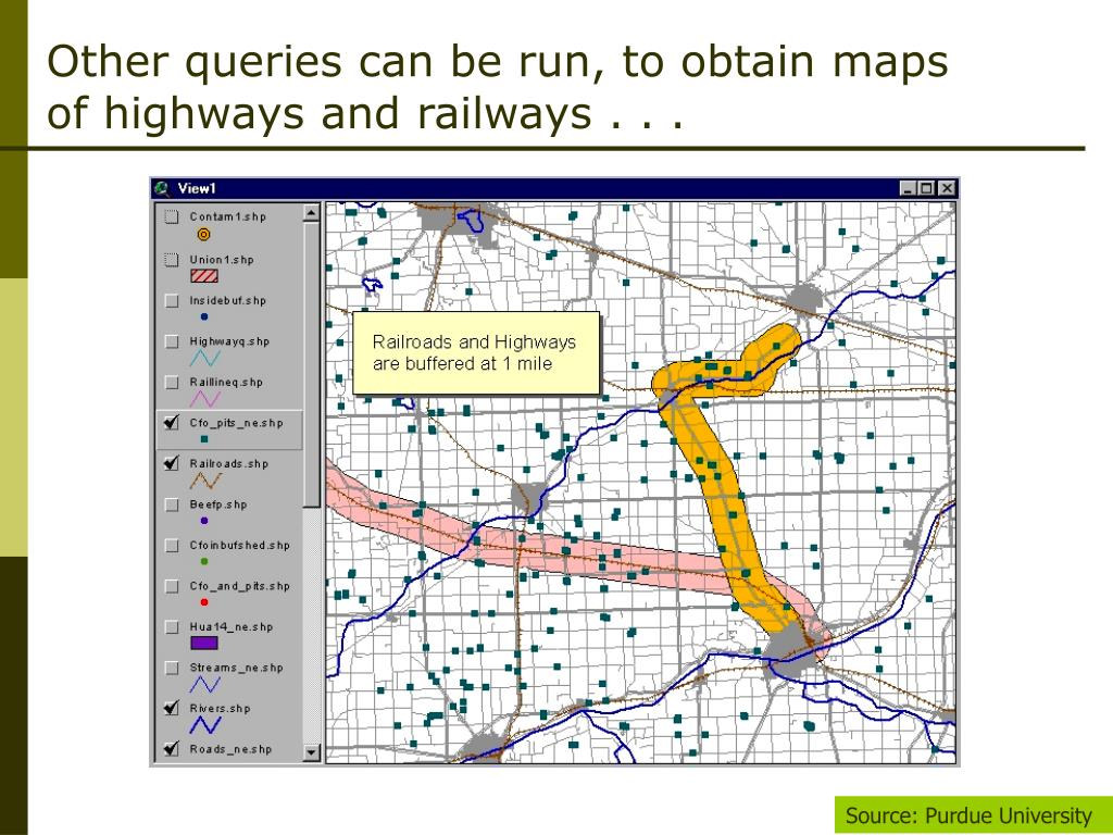 Other queries can be run, to obtain maps