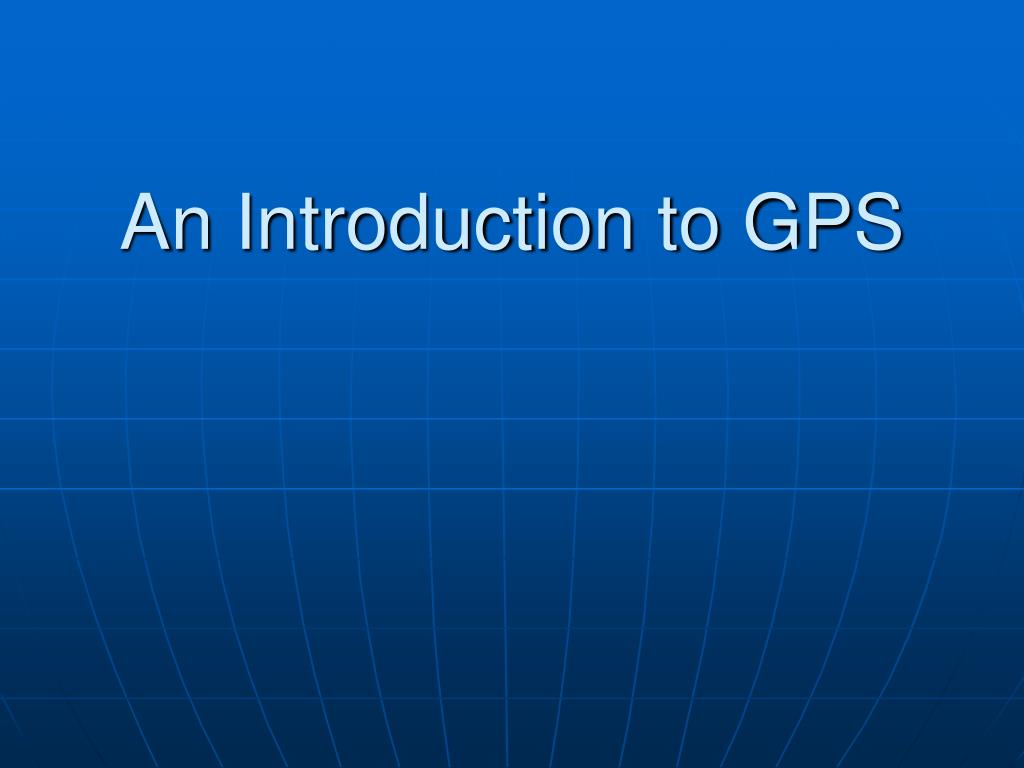 an introduction to gps