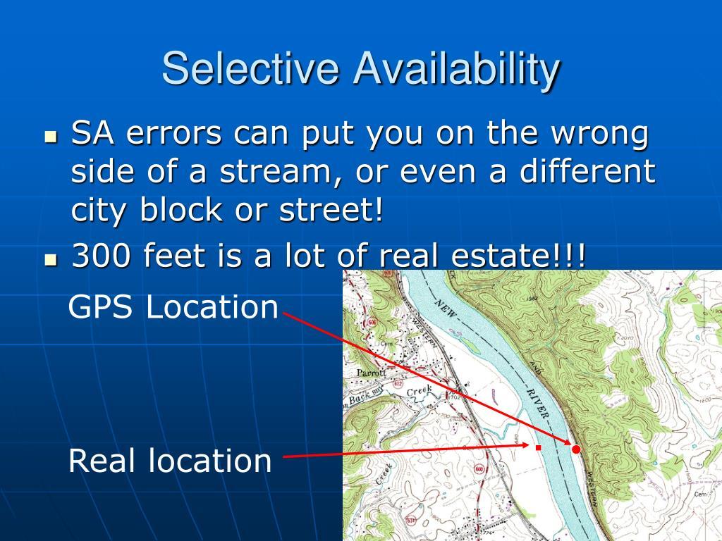 Selective Availability