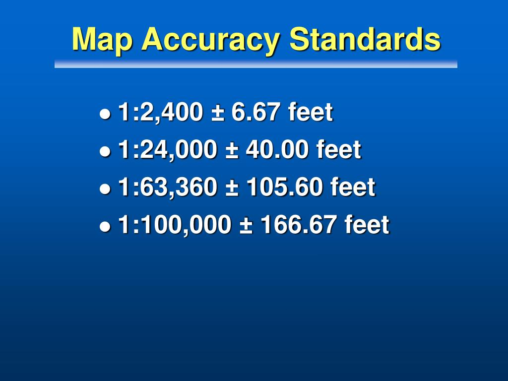 Map Accuracy Standards