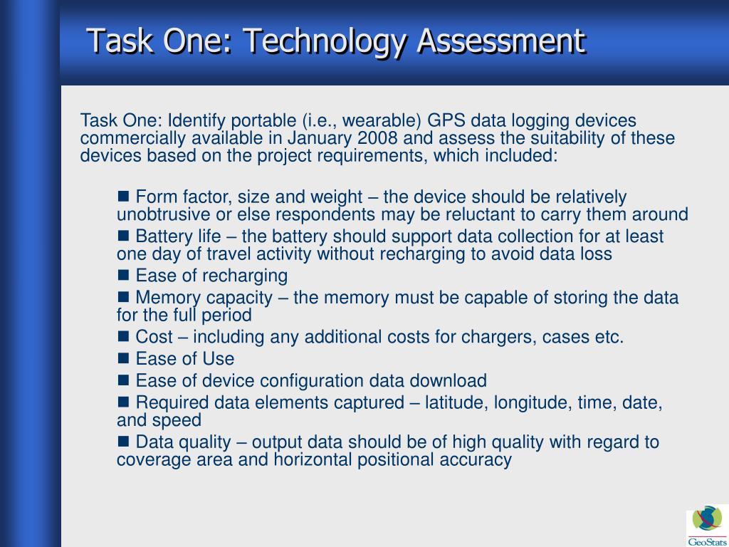 Task One: Technology Assessment