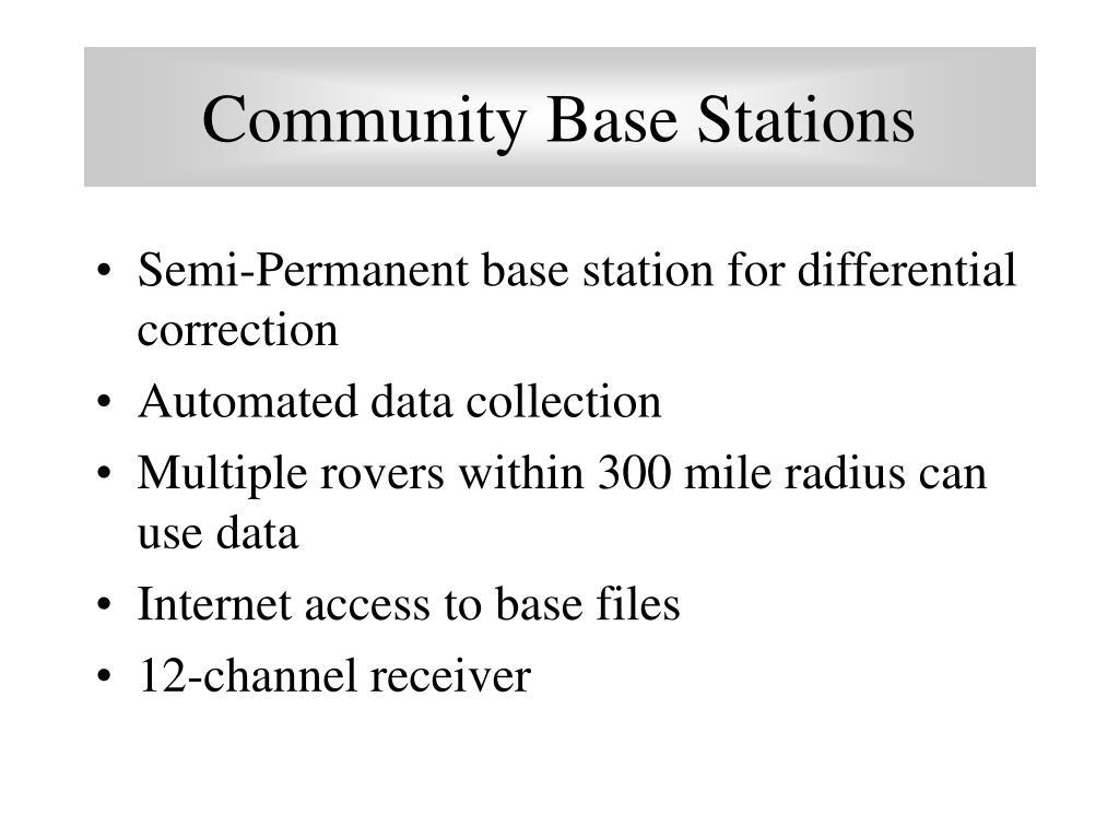 Community Base Stations