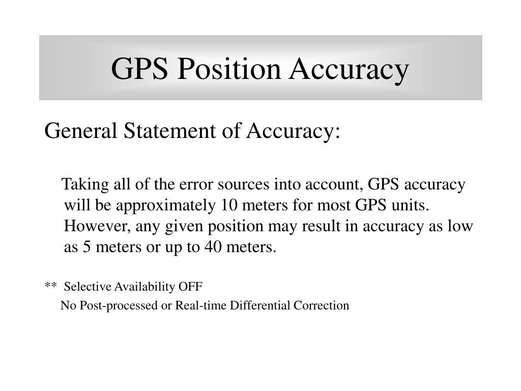 GPS Position Accuracy