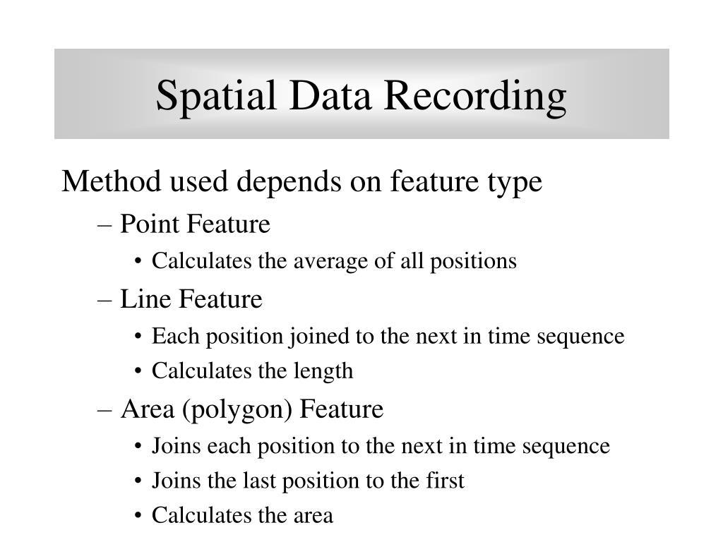 Spatial Data Recording