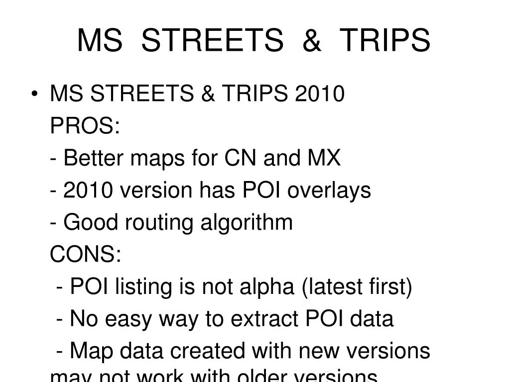 MS  STREETS  &  TRIPS