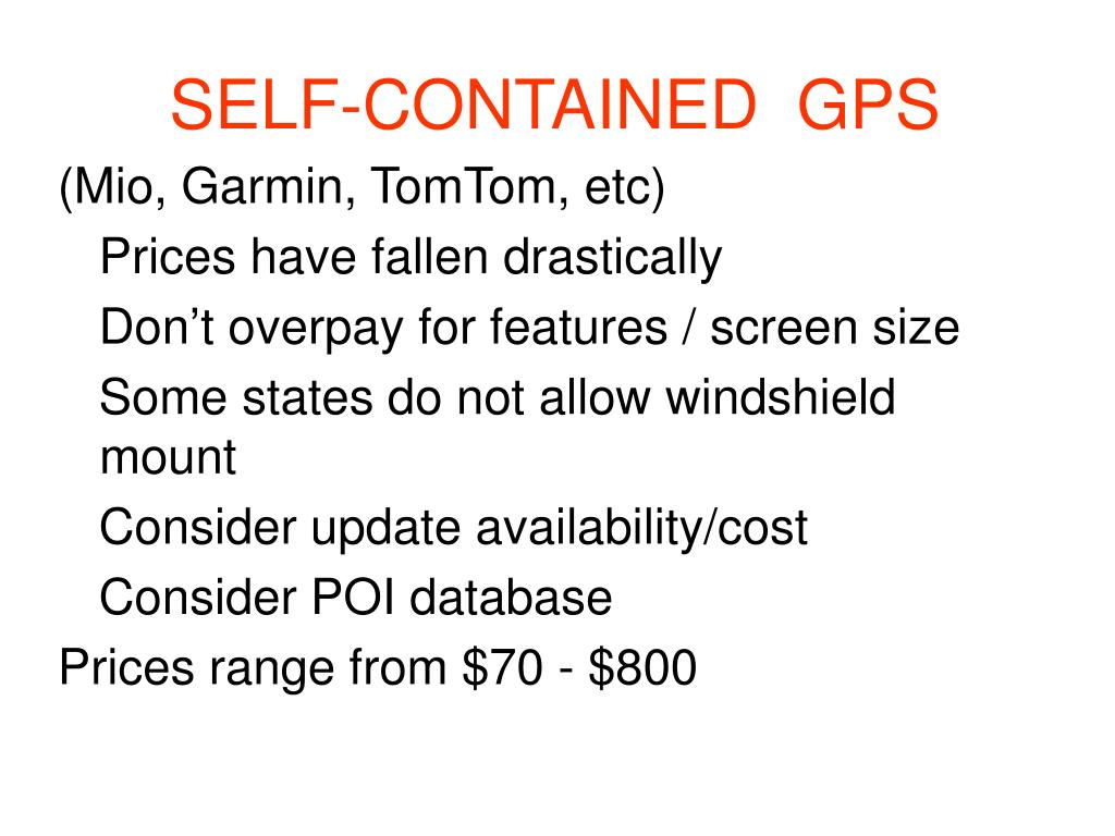SELF-CONTAINED  GPS