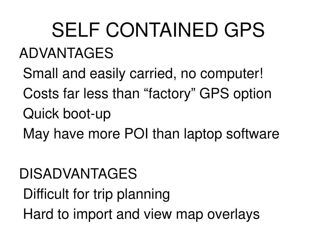 SELF CONTAINED GPS