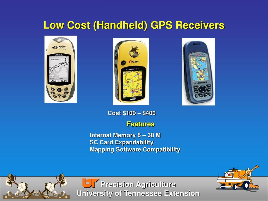 Low Cost (Handheld) GPS Receivers