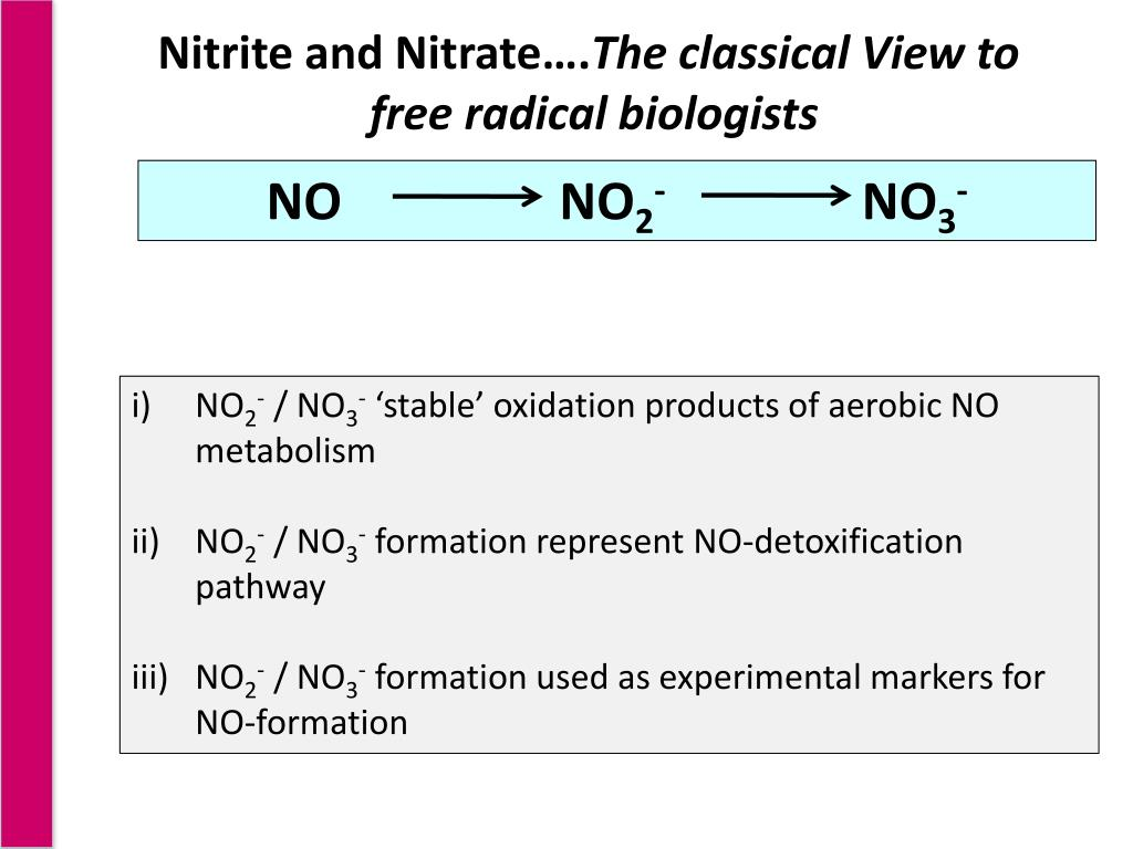 Nitrite and Nitrate….