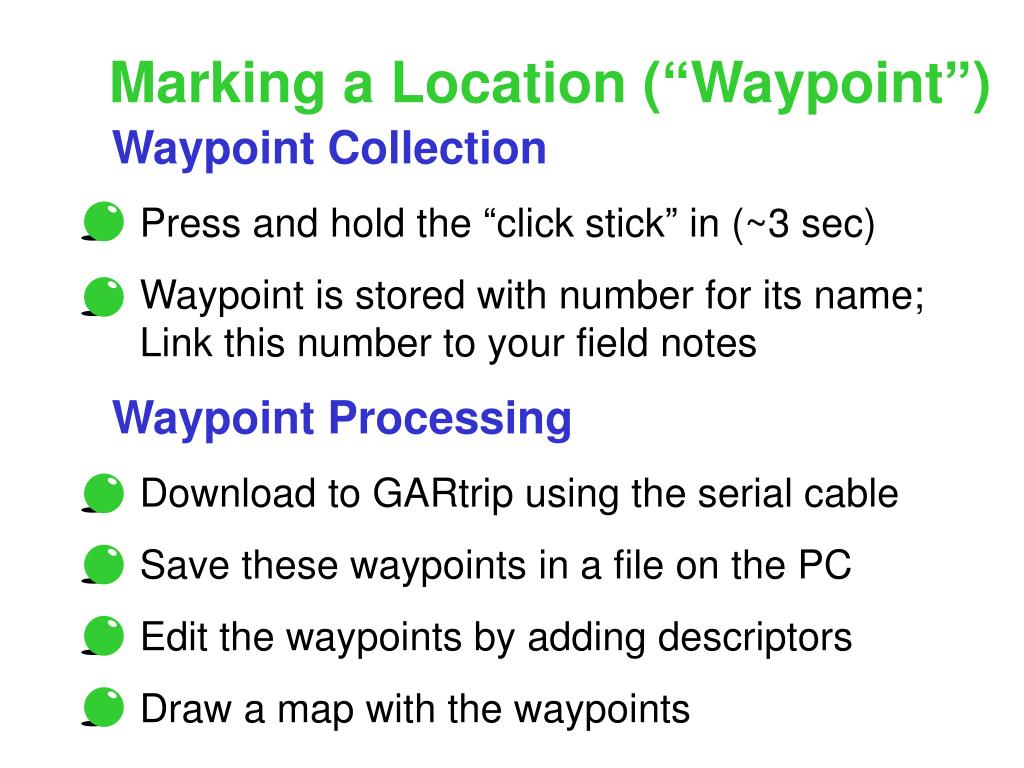 "Marking a Location (""Waypoint"")"