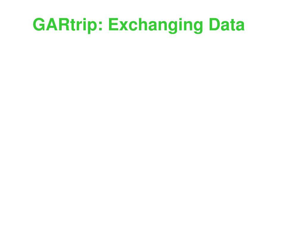 GARtrip: Exchanging Data