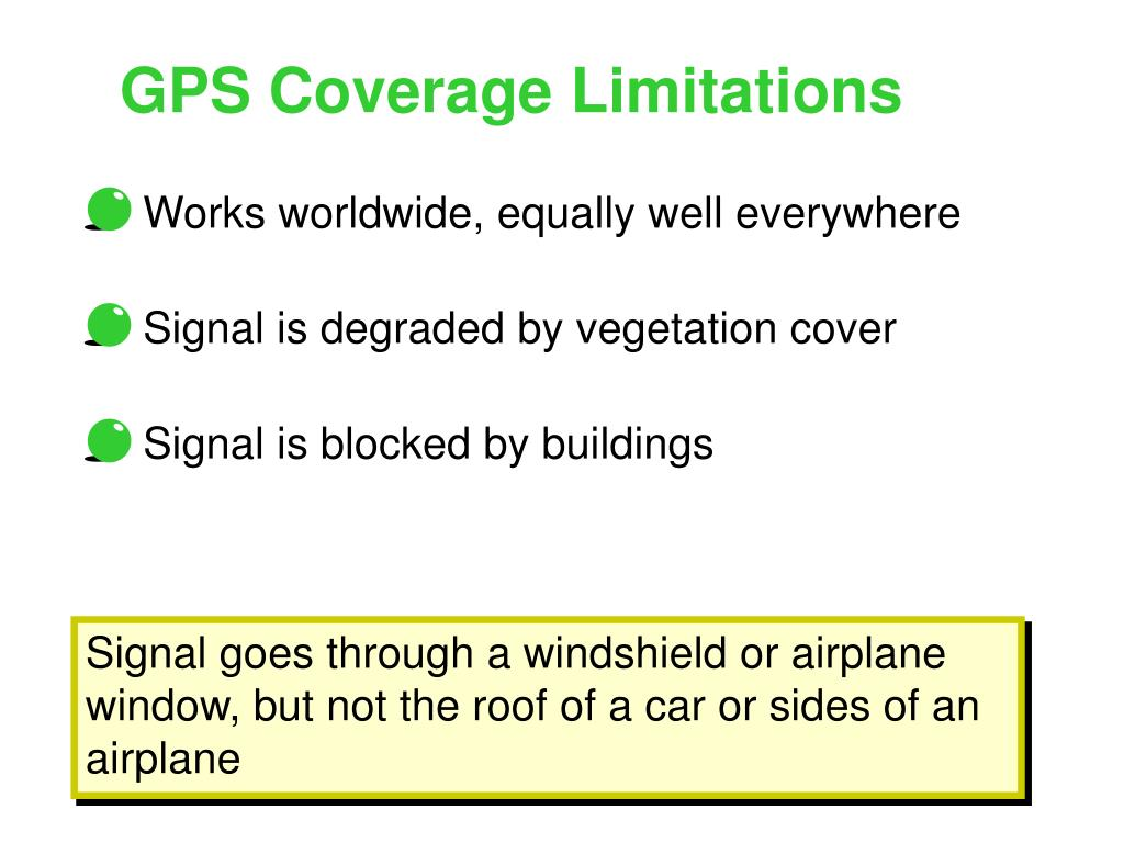 GPS Coverage Limitations