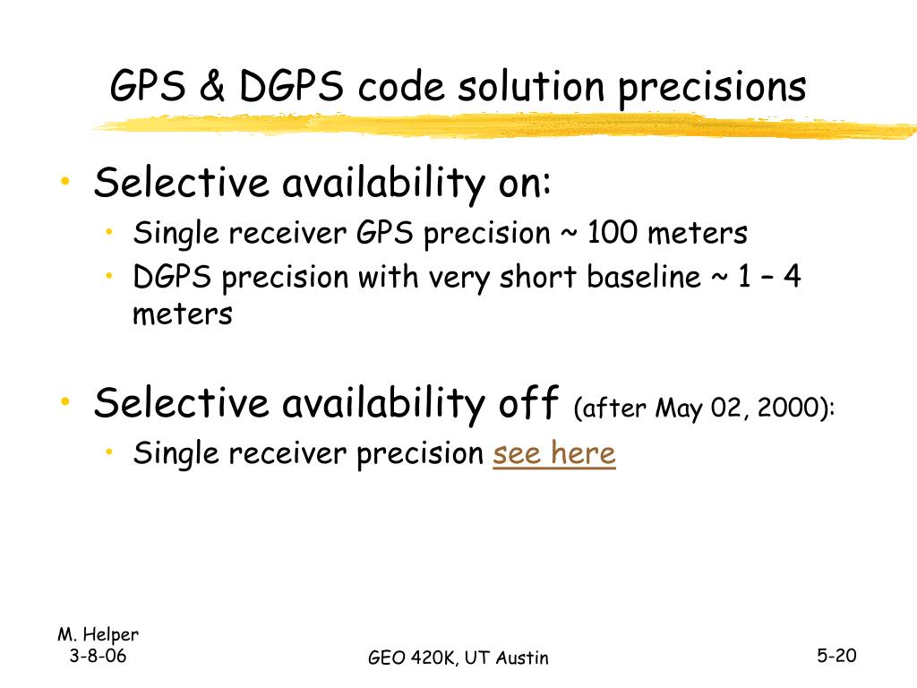 GPS & DGPS code solution precisions