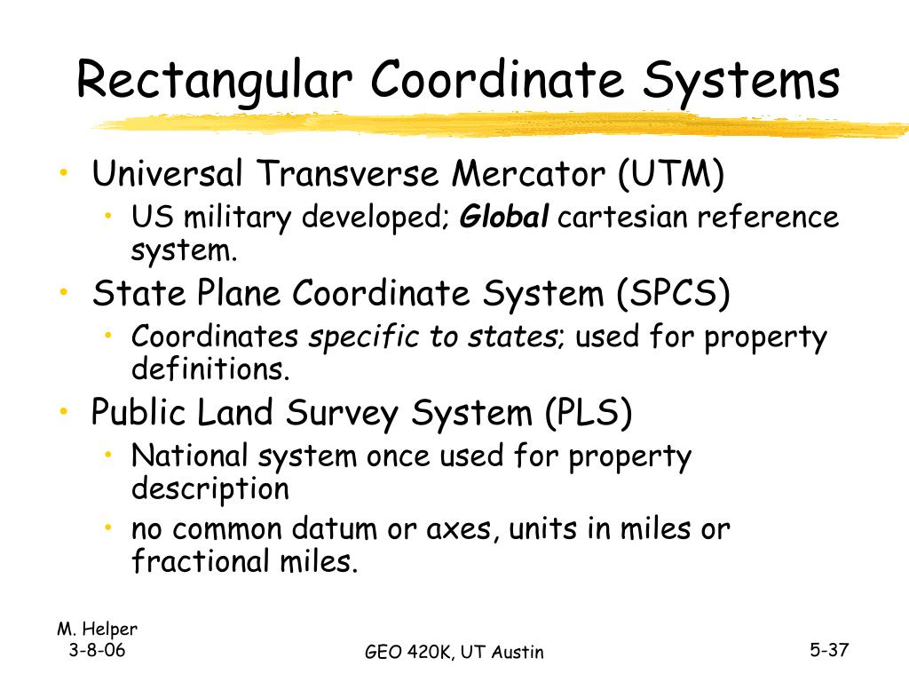 Rectangular Coordinate Systems