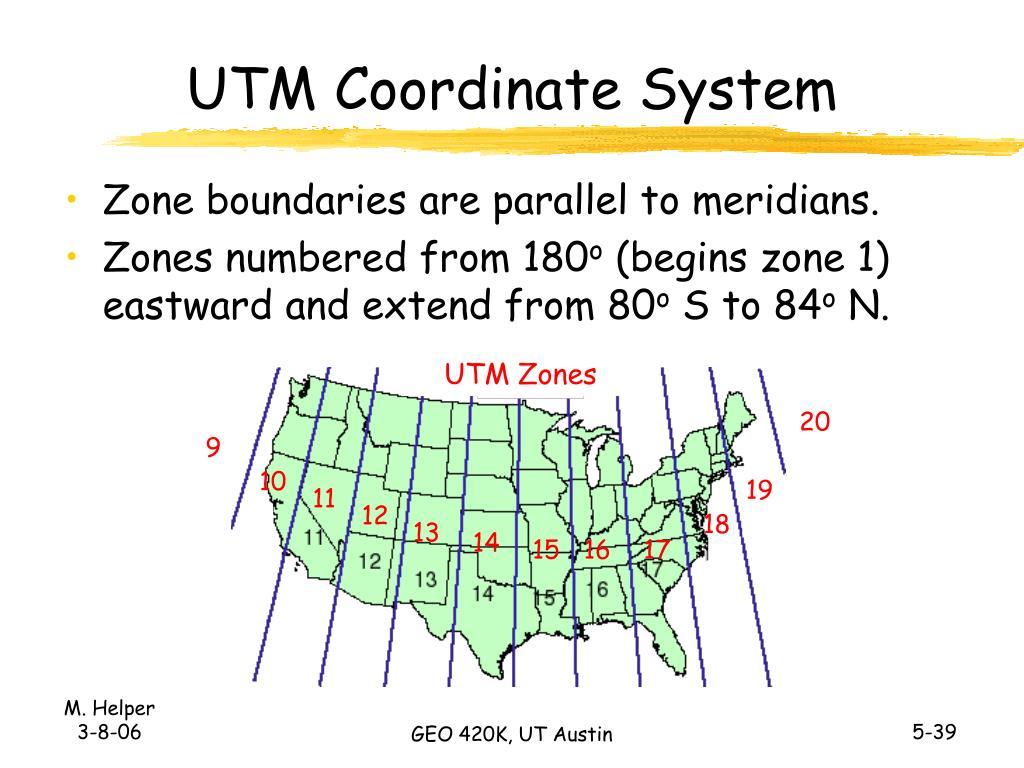 UTM Coordinate System