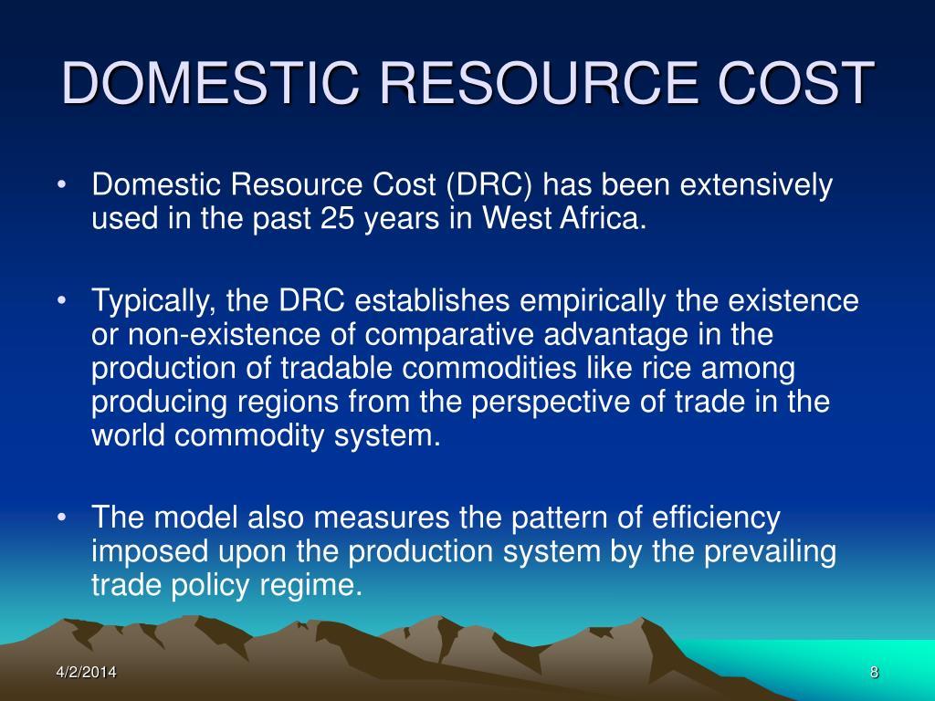 DOMESTIC RESOURCE COST