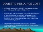 domestic resource cost