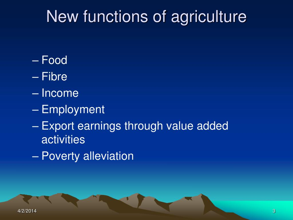 New functions of agriculture