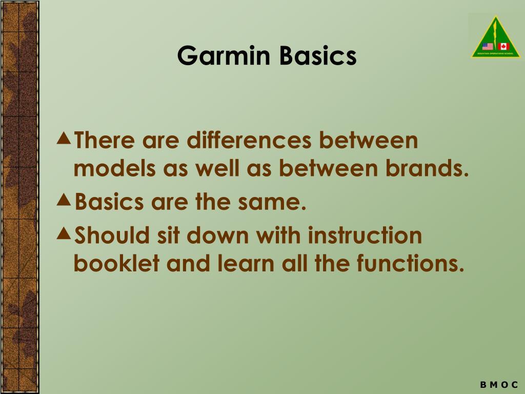 Garmin Basics