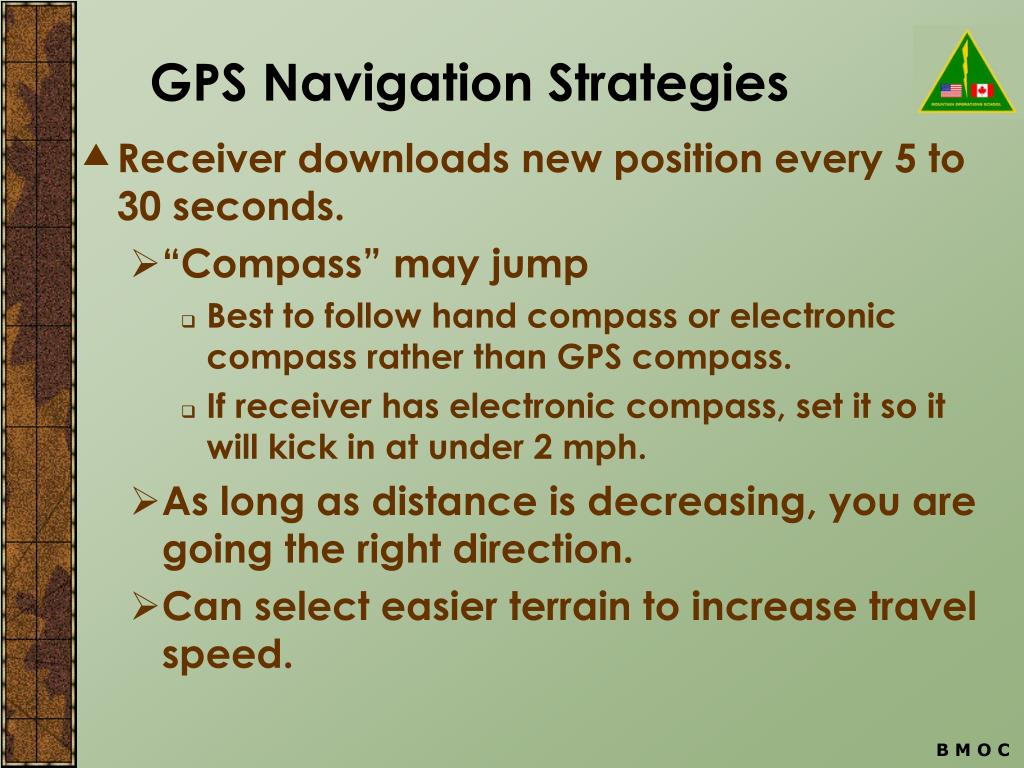 GPS Navigation Strategies