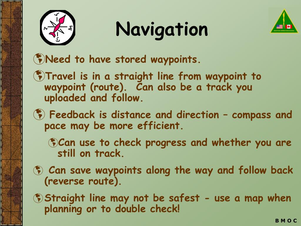 Need to have stored waypoints.