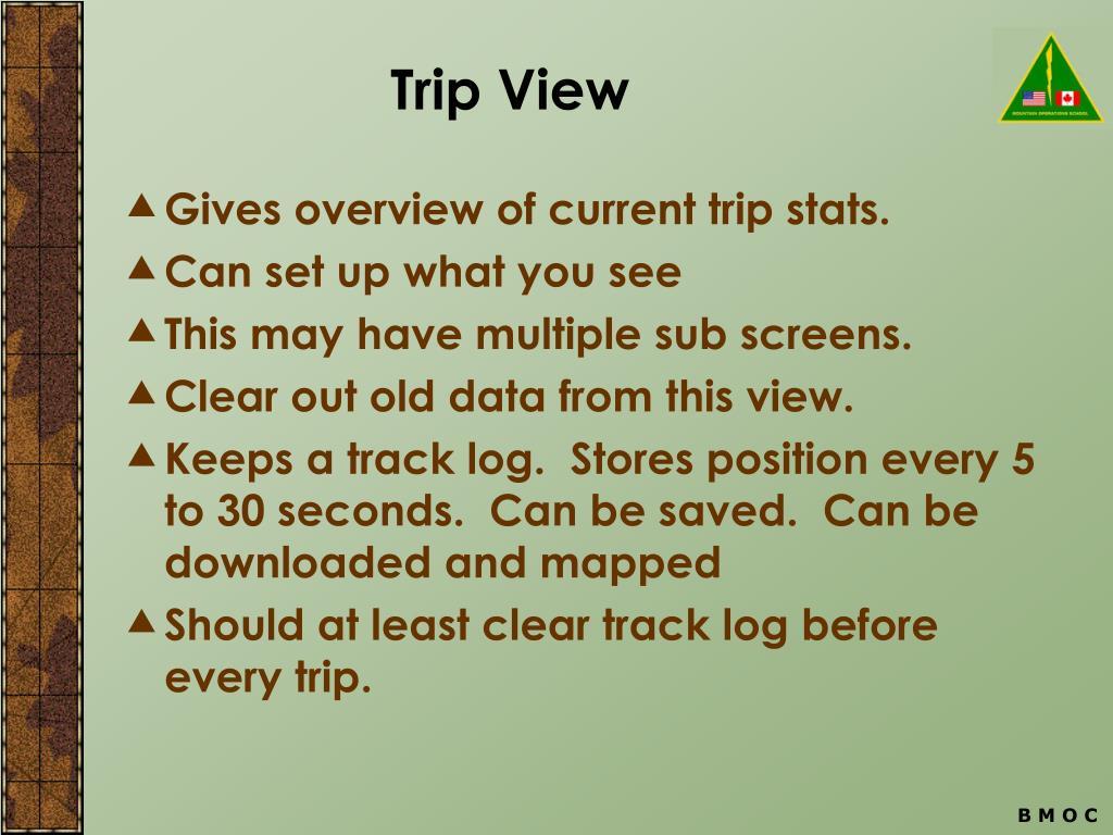 Trip View