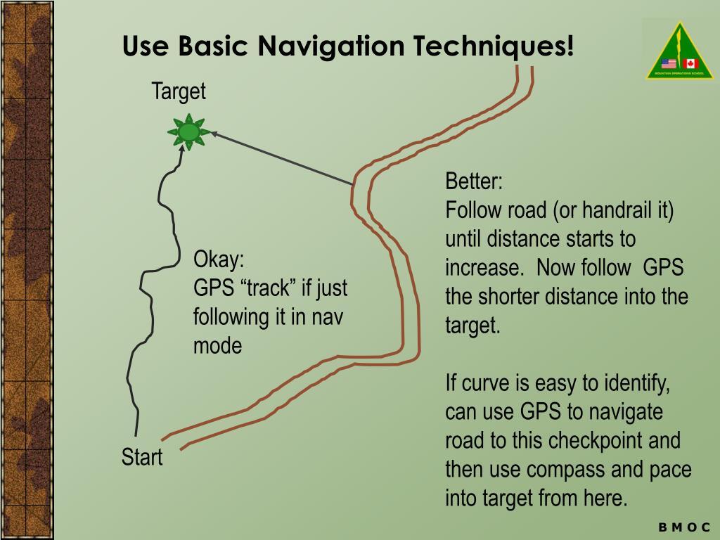 Use Basic Navigation Techniques!