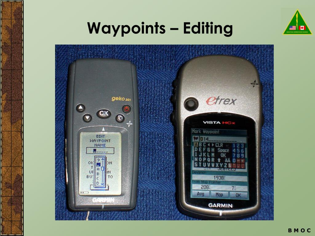 Waypoints – Editing
