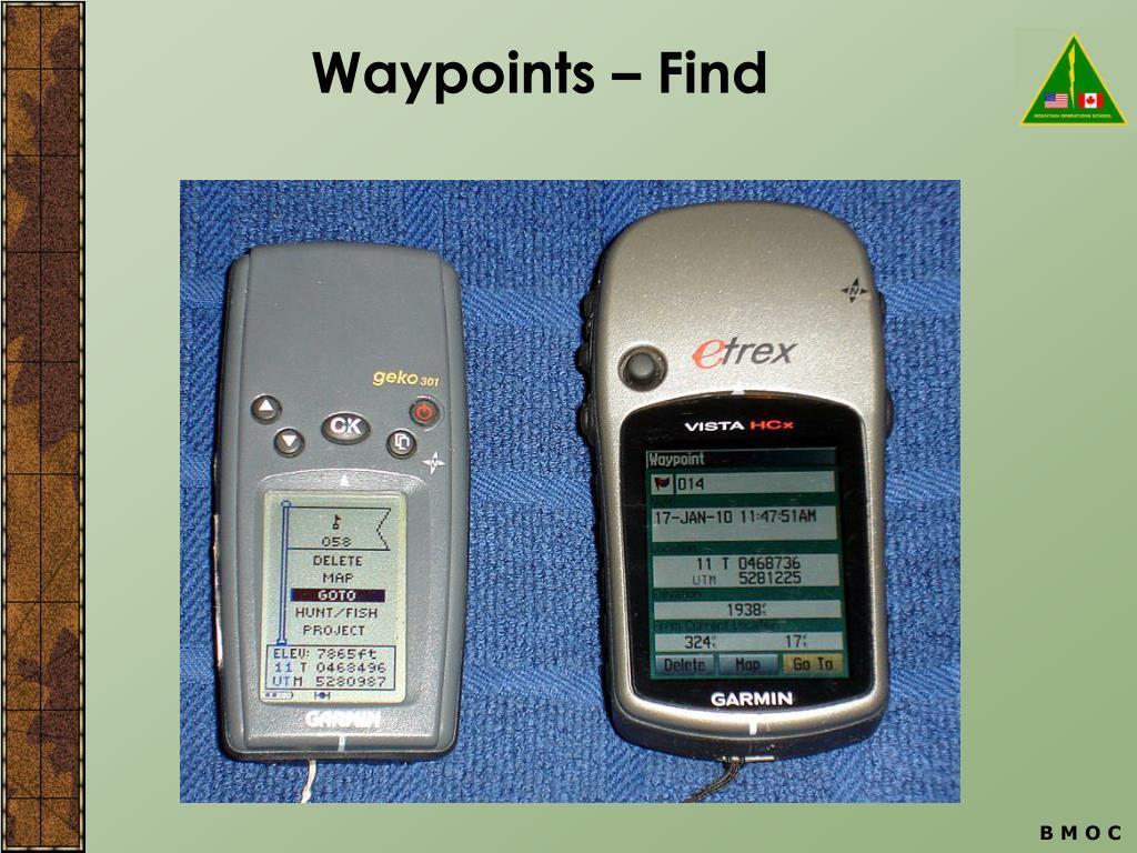 Waypoints – Find