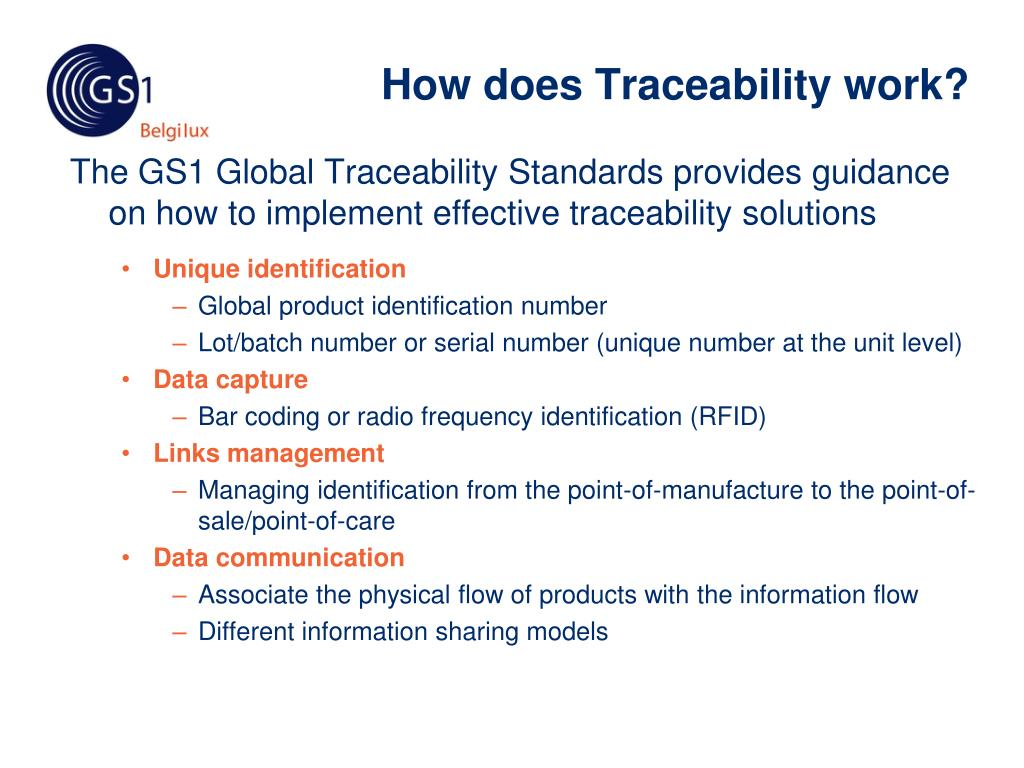 How does Traceability work?