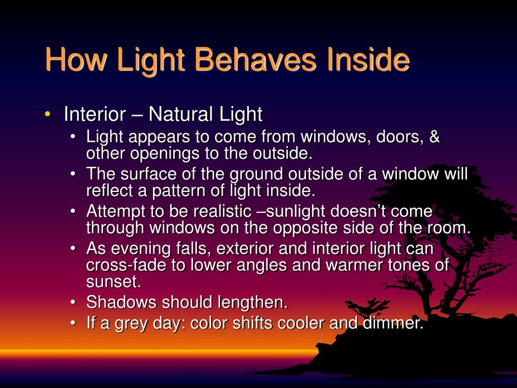 How Light Behaves Inside