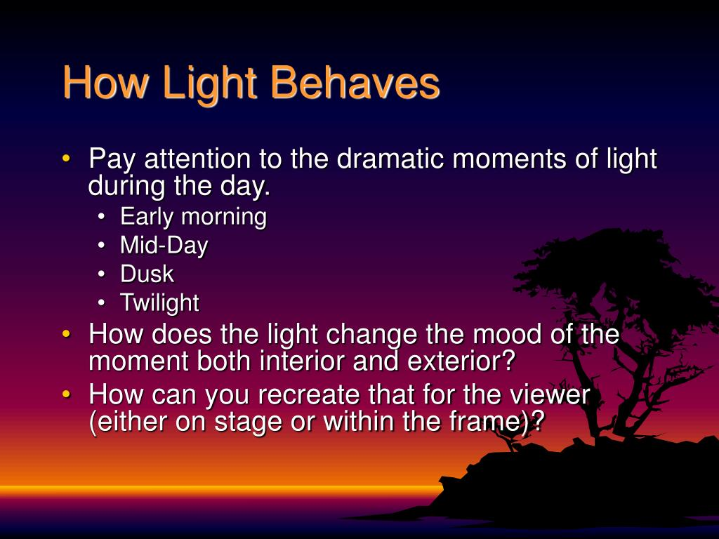 How Light Behaves