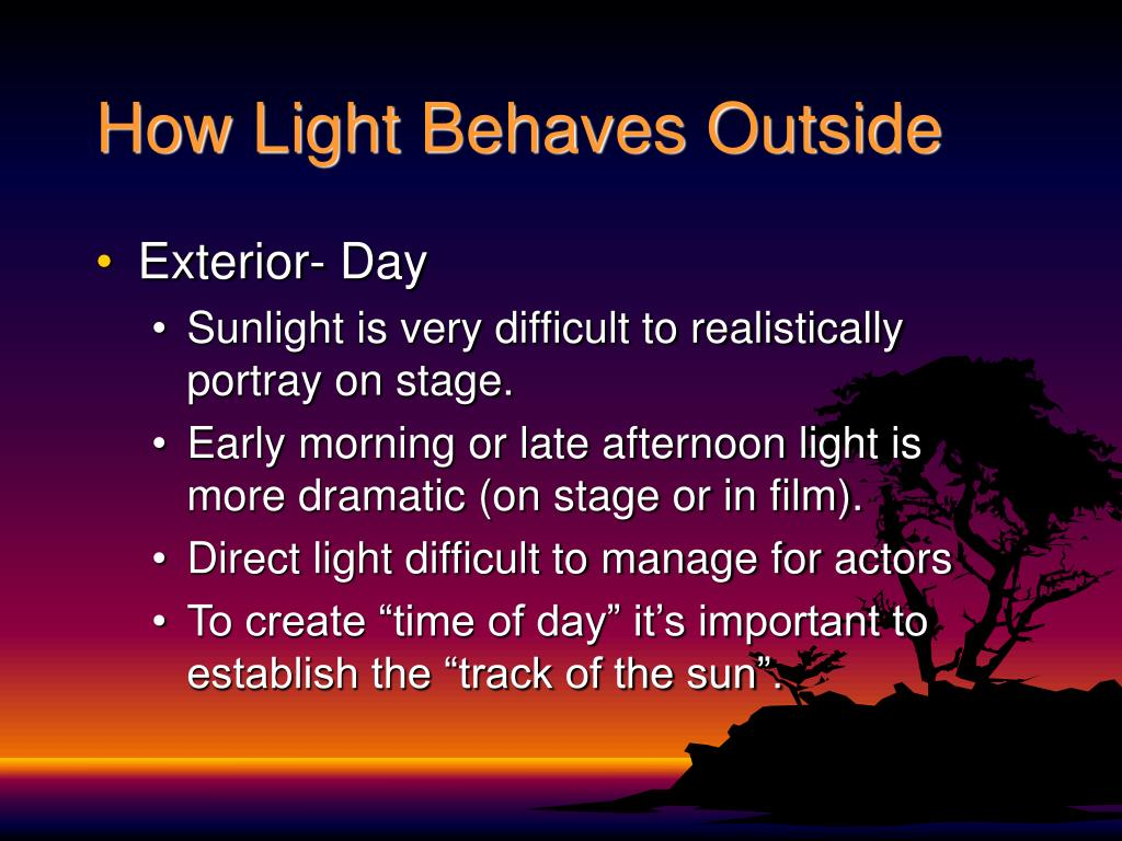 How Light Behaves Outside