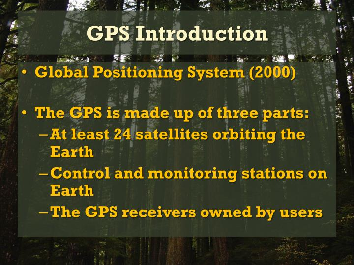 Gps introduction
