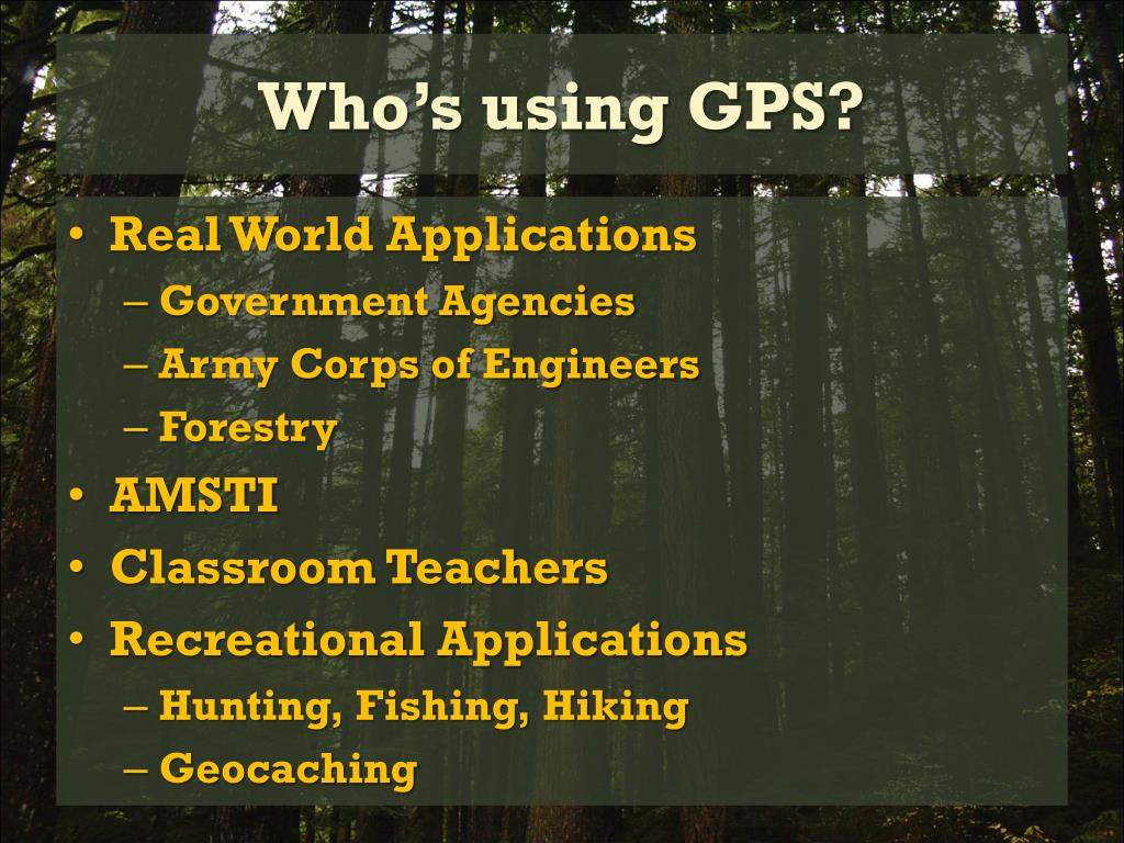 Who's using GPS?