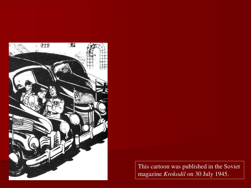 This cartoon was published in the Soviet magazine