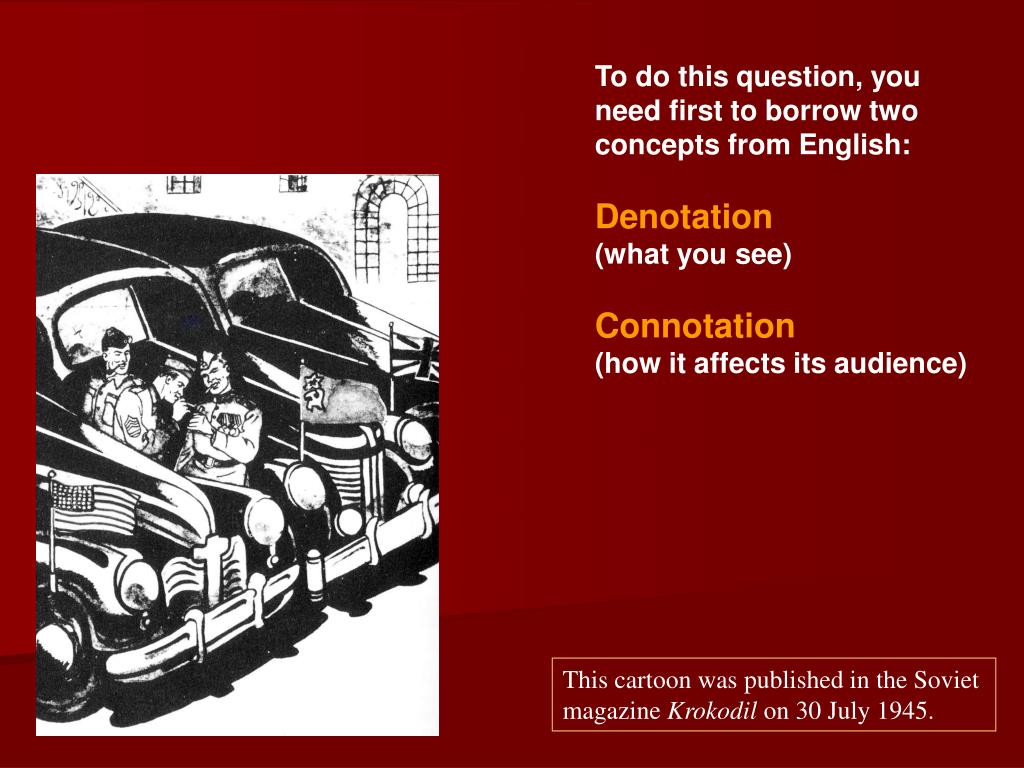 To do this question, you need first to borrow two concepts from English: