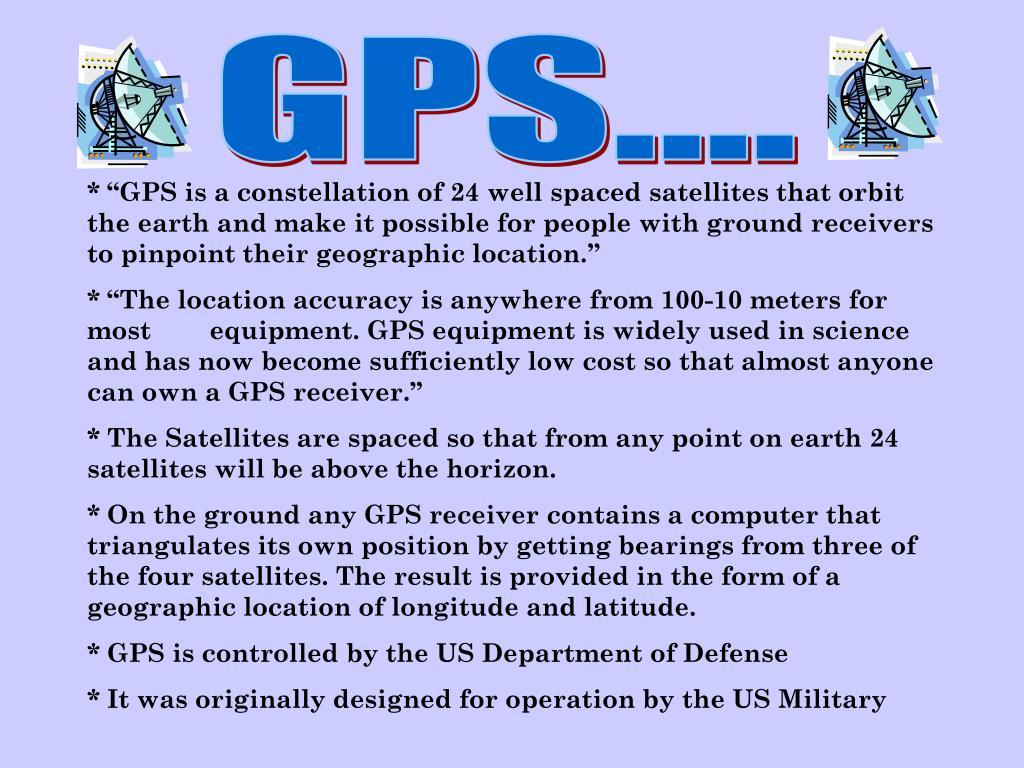 GPS....